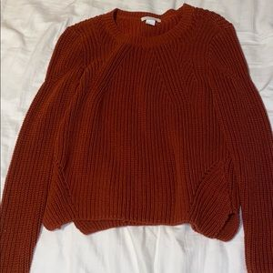 Burnt Orange Knit Sweater 🍂